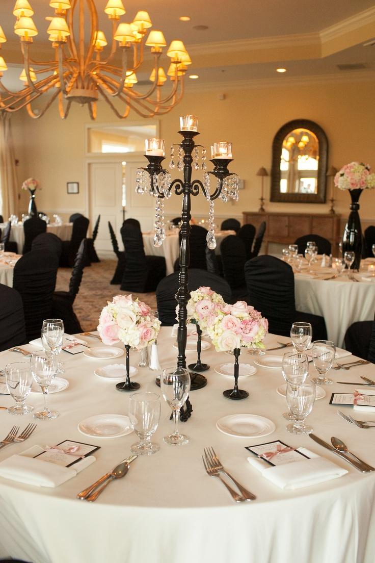 Black chair covers for weddings - Black White Weddings