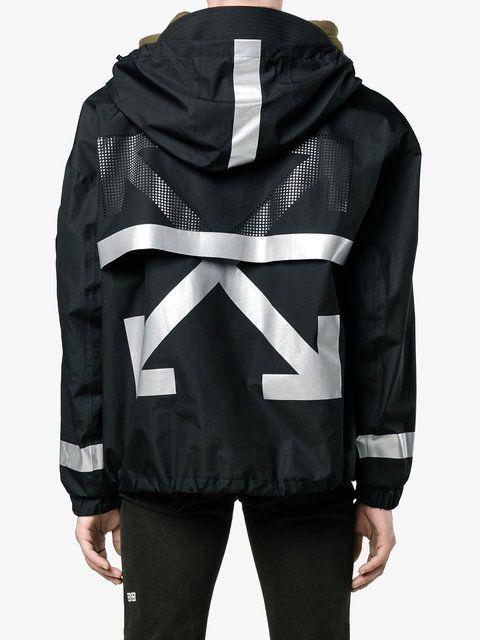 Moncler X Off-White printed parka jacket