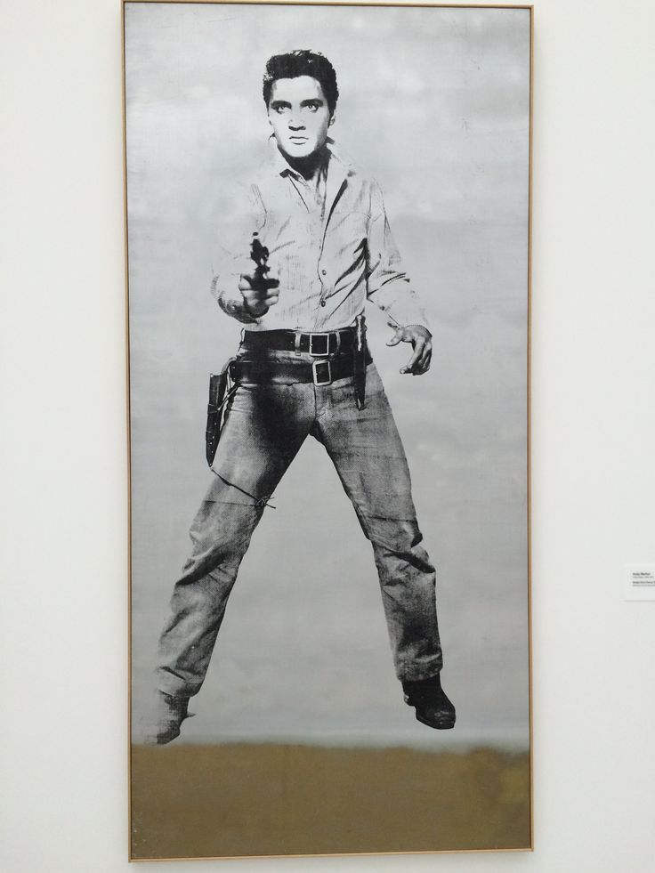SINGLE ELVIS (FERUS TYPE) 1963 by ANDY WARHOL (Silk Screen on Ink & Spray Paint on Linen) at THE BROAD Museum/Los Angeles