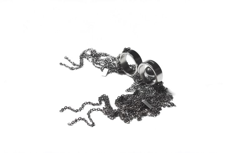 Ruthenium covered magnetic jewelry