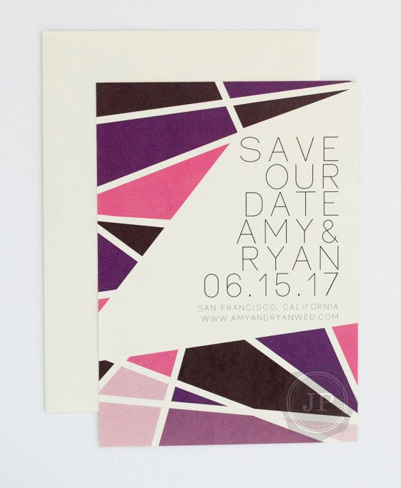 Bright Colorful Save the Date  Bright Modern by JPstationery