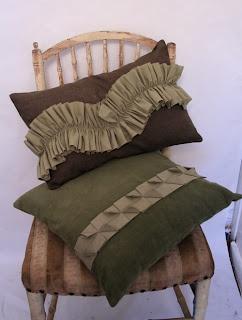beautiful fabric manipulation cushions