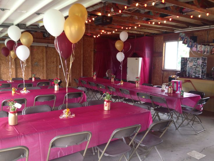 I did my best to transform our garage for jen's grad party!