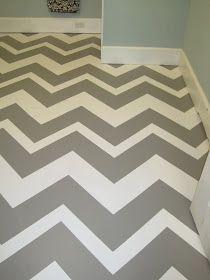 Painted cement floor