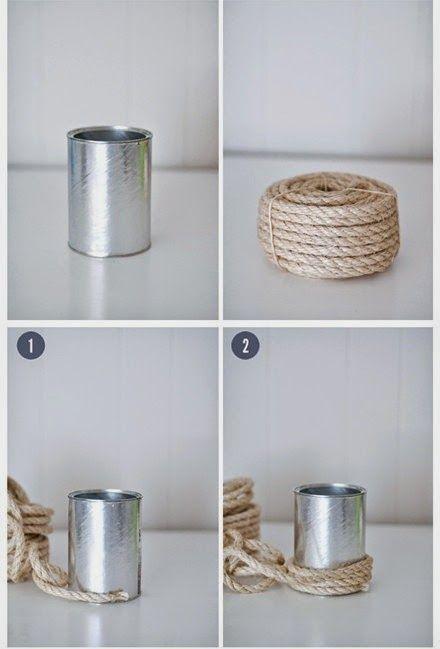 Florero de lata