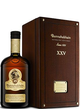 """Bunnahabhain 25 Year Old Single Malt #Scotch Whisky. Aged for 25 years, this #whisky was named the """"Best Islay Single Malt"""" at the World Whiskies Awards in 2014.   @Caskers"""