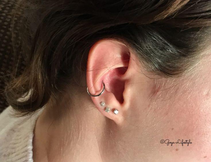 Yes het was weer tijd voor een nieuwe piercing! Dus ging Gaby samen met haar schoonzusje naar Rings of Pleasure om een Orbital piercing te nemen!
