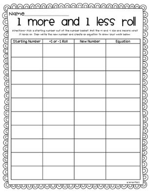 Differentiating Math Printables (1st grade)