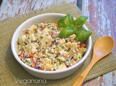 Salada de Batata Baroa com Maionese Vegana