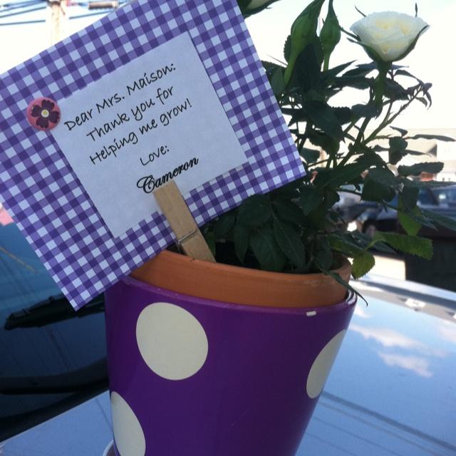 End of school gift for the girls' teachers