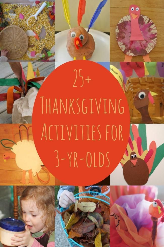 25 Thanksgiving Activities for 3 Year Olds featured on Kids Activities Blog