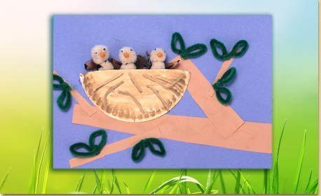Paper Plate Bird's Nest