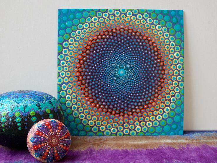 Sacred Geometry Dot Mandala Flower Of Life Dot Painting