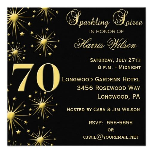 20 best 70th birthday party invitations images on pinterest | 70th, Birthday invitations