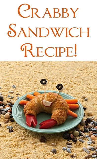 Crabby Sandwich Recipe! {these would be perfect for your beach themed parties!}  #party #sandwiches