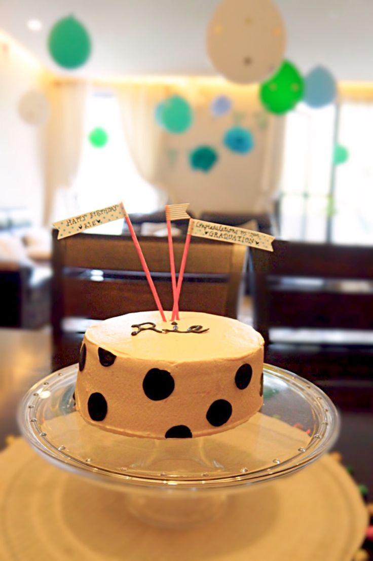 ゆちすけ's dish photo お友達へ サプライズバースデーケーキ | http://snapdish.co #SnapDish #おやつ #ケーキ #パーティー #チョコレート #お誕生日