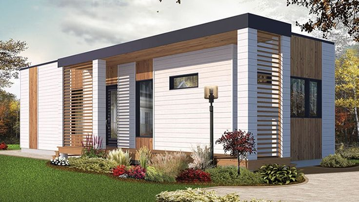 Home Plan HOMEPW77933 - 631 Square Foot, 2 Bedroom 1 Bathroom Contemporary-Modern Homes Home with 0 Garage Bays | Homeplans.com