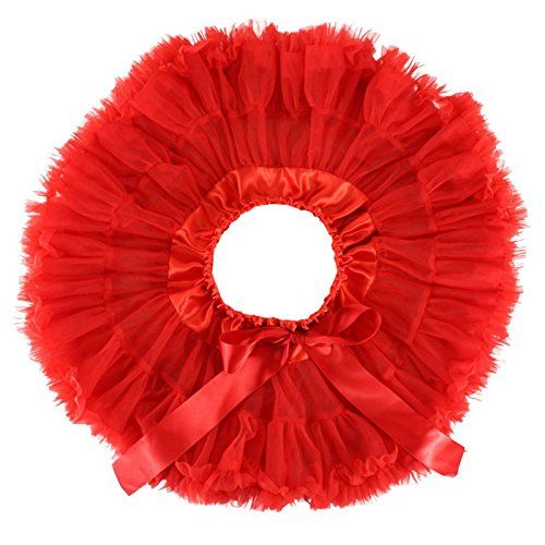 Wennikids Little Girl's Dance Chiffon Pettiskirts Tutu Assorted Size and Color Small Red