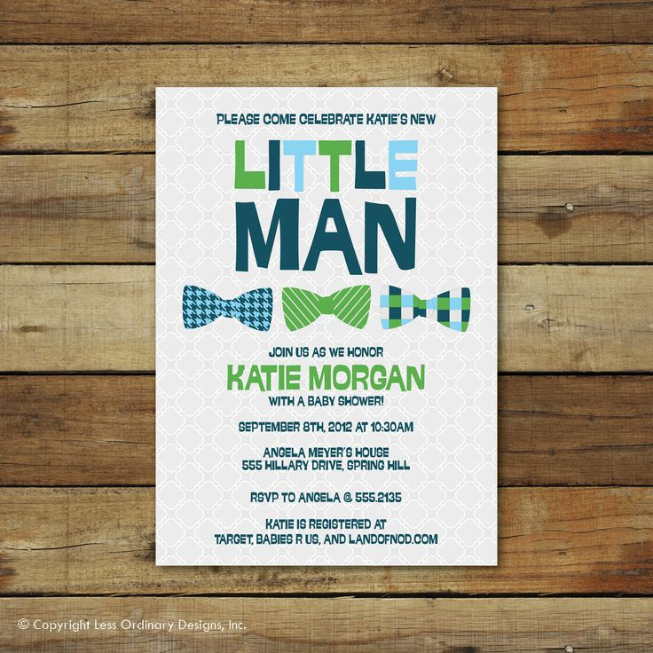 boy baby shower invitations australia%0A bow ties baby shower invitation  little man  baby boy bowties  I think we  can customize colors