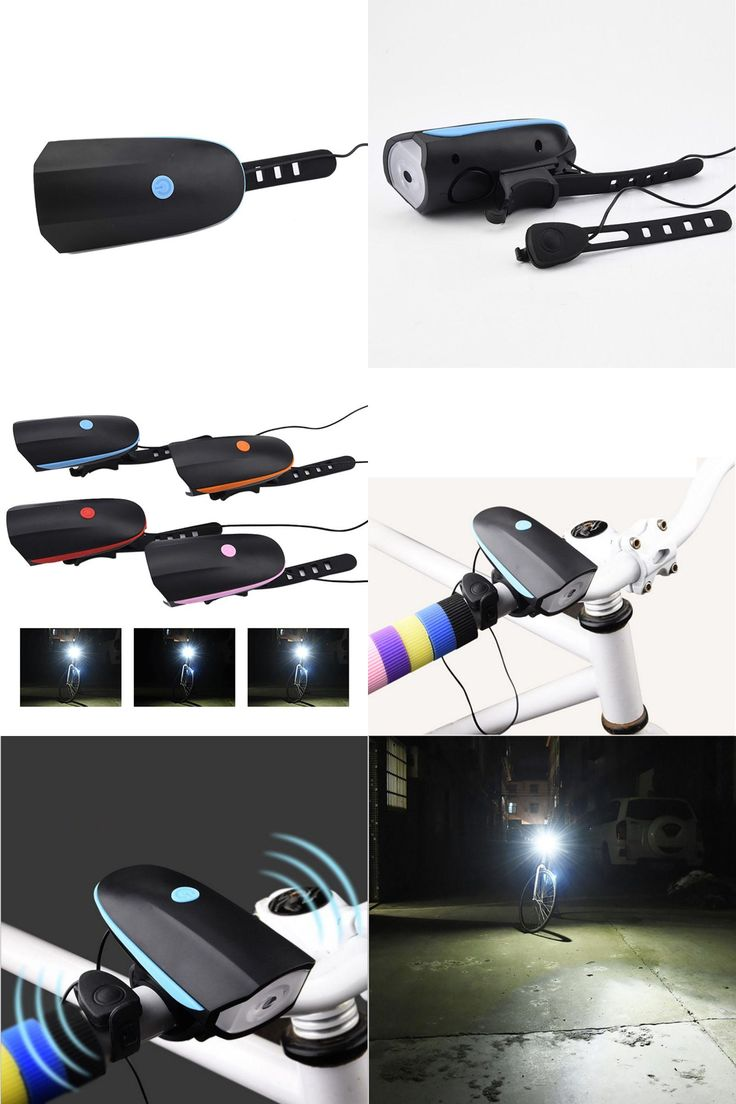 [Visit to Buy] 2017 Night Riding Equipment Cycling Mountain Electric Super Bright Headlights USB Charge Horn Bicycle head light Alarm #Advertisement