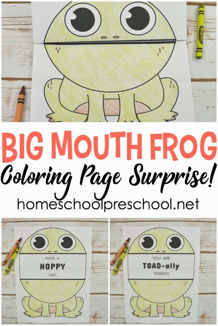 Print This Big Mouth Frog Printable Coloring Page For A Cheap And Easy Activity For Kids Fold Co Free Preschool Printables Free Preschool Frog Coloring Pages