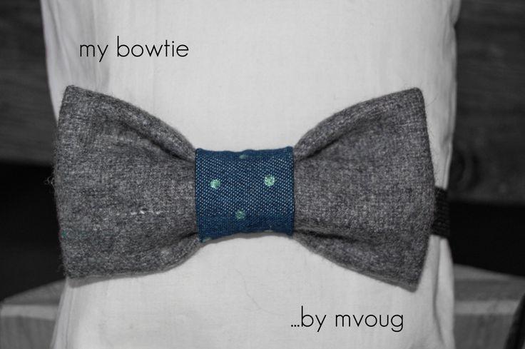 Bowtie, grey wool by MrsDarksidesArtWork on Etsy