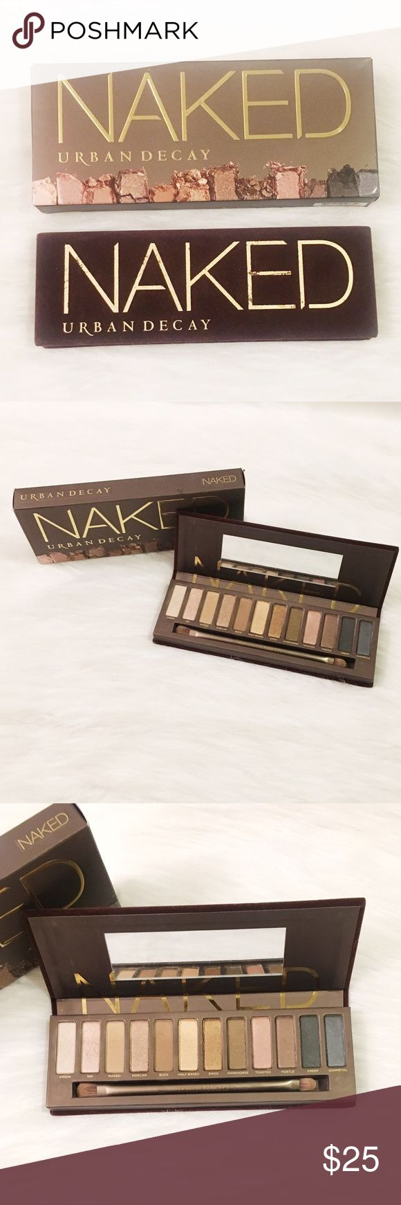 Urban Decay NAKED palette Very lightly used only a handful of times. I prefer more matte colors in my palettes, but these shimmery colors are GORGEOUS for the woman who knows how to do eye make up well ☺️ still have he box it came in and will ship with the box and of course an additional gift 🎁 💕 Urban Decay Makeup Eyeshadow