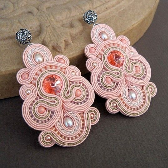 #pink #soutache #earrings