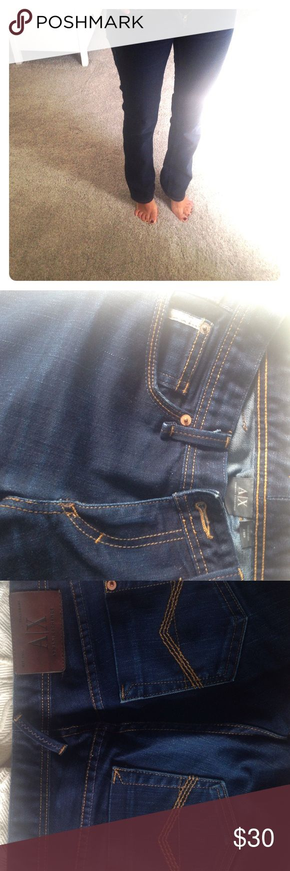 Armani Exchange Jeans Great color can go with any outfit. Barely worn as it was too long for me. In great shape Armani Exchange Jeans Straight Leg