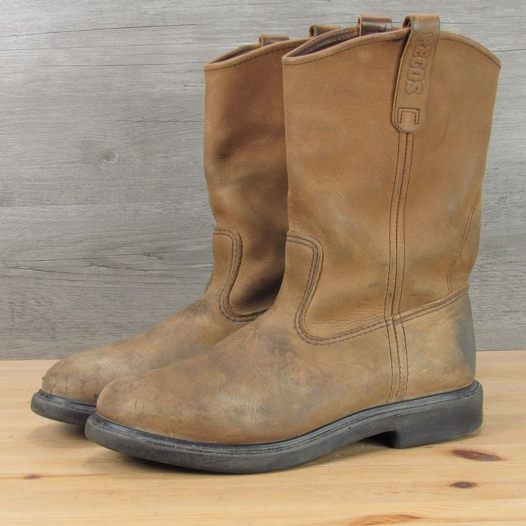 Red Wing Pecos Work Boots Made in USA Men's 8.5 3E