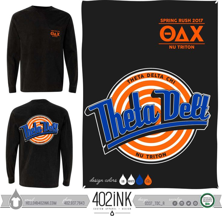 #402ink #402style 402ink, Custom Apparel, Greek T-shirts, Sorority T-shirts, Fraternity T-shirts, Greek Tanks, Custom Greek Apparel, Screen printed apparel, embroidered apparel, Fraternity, TDX, Theta Delta Chi, Space Jam, Letters, Rush