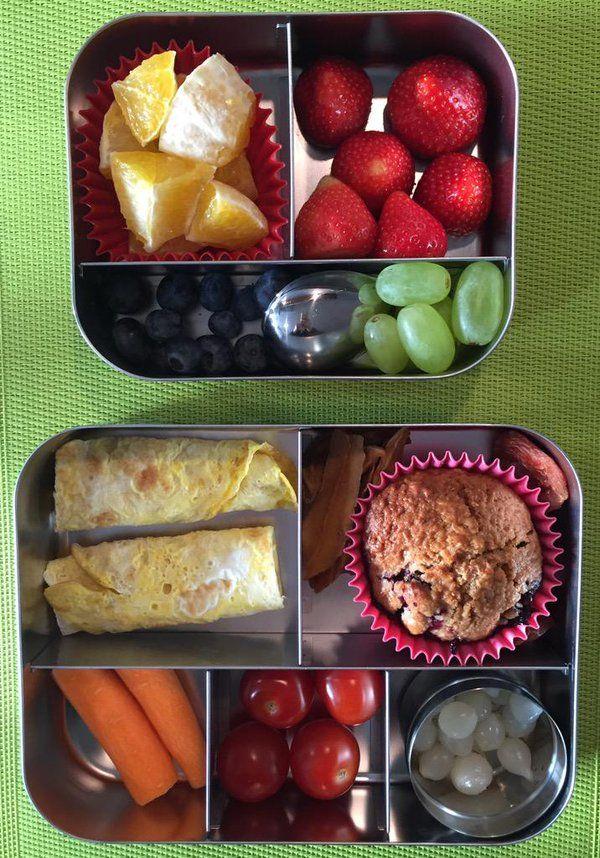 omeletje #meenaarschool bij het fruit en de groente