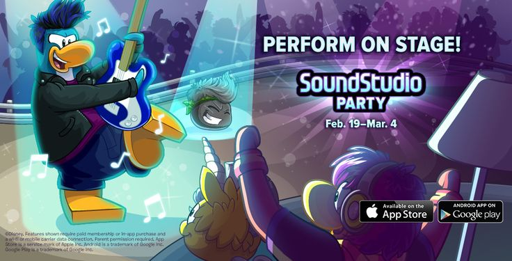 Play Now! | Club Penguin soundstudioPARTY