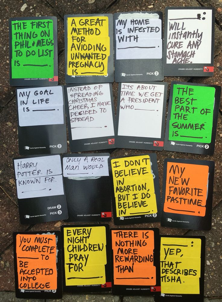Hilarious ideas for your blank cards in cards of humanity deck. DIY your on cards of humanity expansion black cards