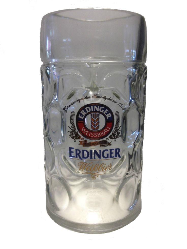 #Erdinger - #chope / #verre de #bière - 1 litre - #Masskrug - #NOUVEAU in   #eBayFR