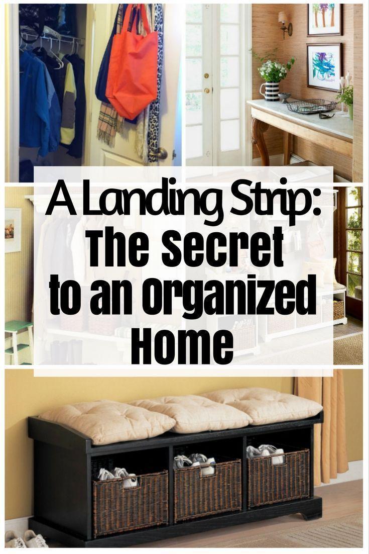 A Landing Strip: The Secret to an Organized Home - http://www.thebudgetdiet.com/landing-strip-organized-home?utm_content=snap_default&utm_medium=social&utm_source=Pinterest.com&utm_campaign=snap