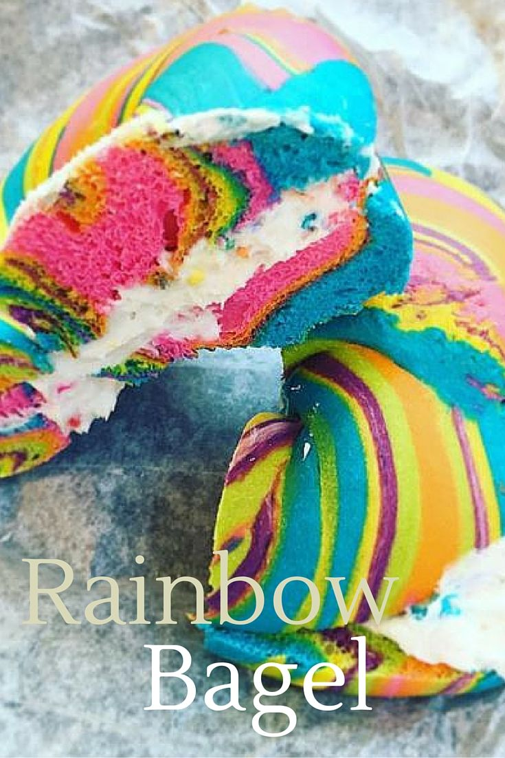 Chef Scot Rossillo has been making his technicolour rainbow bagels stuffed full…