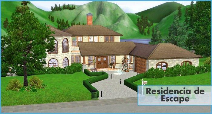 Residencia de Escape house by Juan Gartner - Sims 3 Downloads CC Caboodle