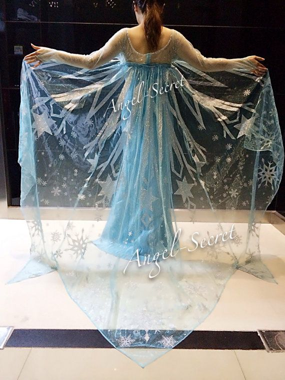 CL3 big frozen adult size elsa cape 3 meters wide by angelssecret