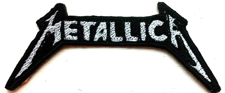 Metalica Logo Embroidered Patches Sew Iron On Badge Hat Bag Jeans Jaket Applique by EmporiumEmbroidery on Etsy