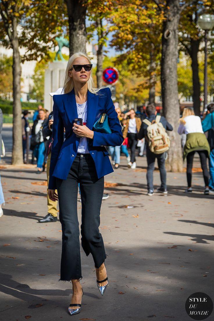 Paris SS 2018 Street Style: Sasha Luss