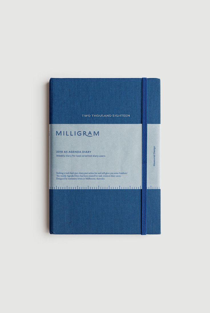 Buy Milligram - 2018 Agenda Diary - Weekly Notebook - A5 (22 x 15cm) - Ultramarine - Milligram Stationery. milligram.com