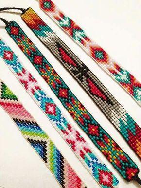 Peyote stitch patterns.