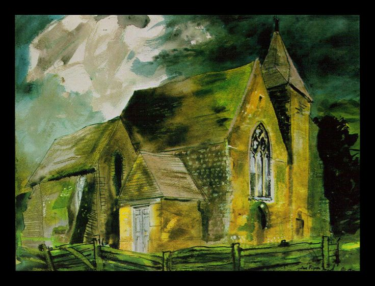 John Piper (1903 - 1992) | Old Romney, Kent
