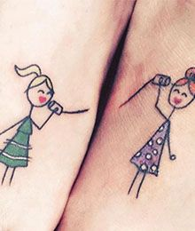 Tattoos for sisters: These 10 motifs you will love