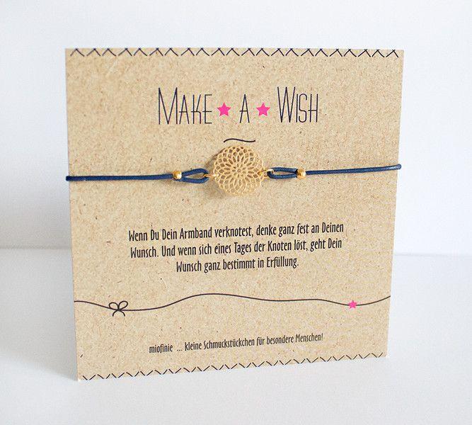 Armbänder - Glücksarmband *MAKE a WISH* mit einer Lebensblume - ein Designerstück von miofinie bei DaWanda