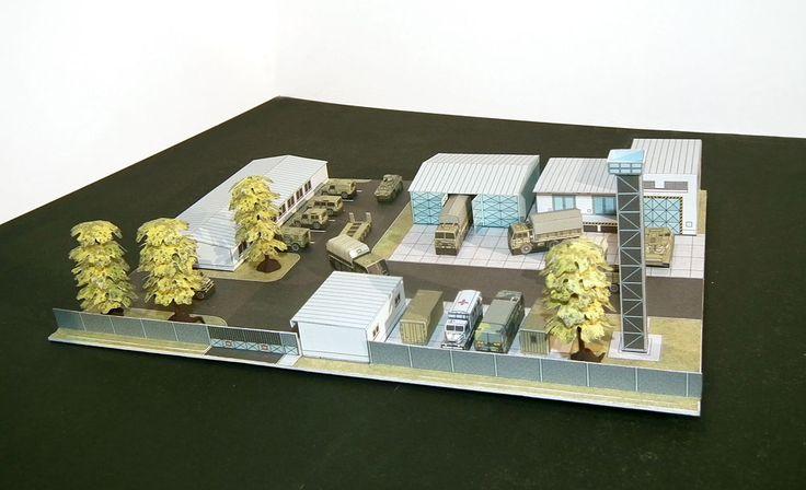 Współczesna baza wojskowa (Czechy) mikromodele 1:250 http://mojeminiatury.waw.pl/szpital-polowybaza-wojskowa-czechy-1250/