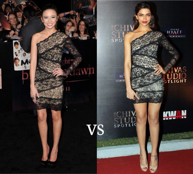 Malese and Deepika wearing the exact same lace outfit!