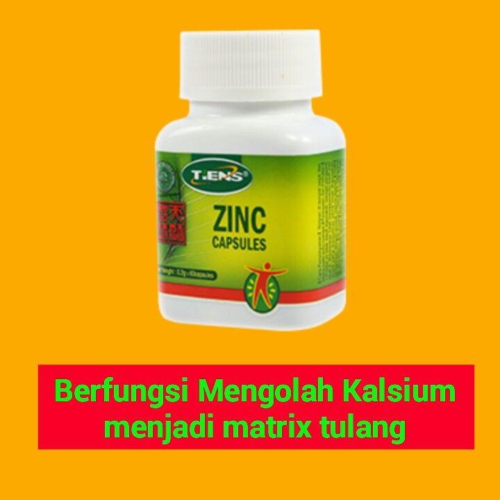 Zinc Capsules untuk mengolah kalsium menjadi matrik tulang, harga cuma 200 ribu/botol , belum termasuk ongkos kirim.