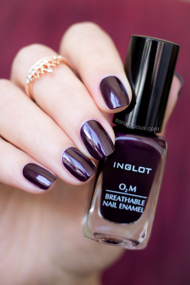 Marsala-Perfect Inglot O2M Breathable Nail Polish – Review
